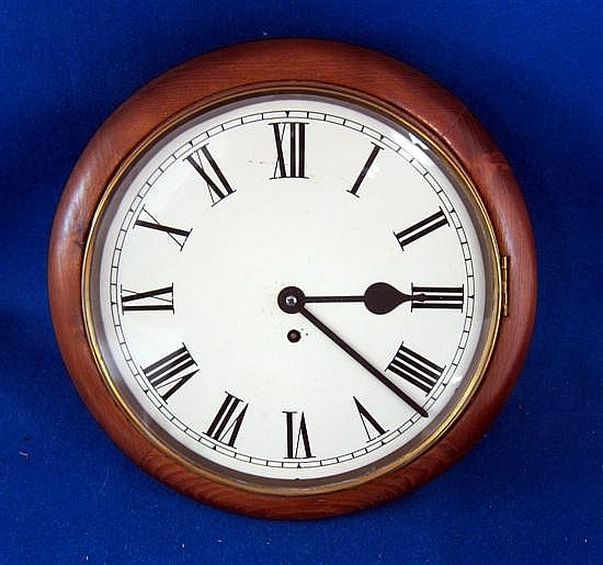 Pine framed wall clock,