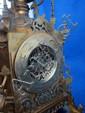 Early 20th century Islamic style brass mantel clock,