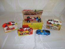 A selection of Dinkycars to include a boxed 202 Fiat Abarth, a boxed 242 Ferrari, a boxed 225 Lotus F1, a boxed Ford Cortina rally car and an unboxed Ferrari Dino (5) G in F-G boxes where boxed.