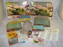 A selection of Dinky, Corgi and Matchbox instructions and empty boxes as lotted.