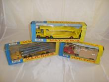 A selection of three boxed Matchbox King-Size lorries to include K-8, K-10 and K-18 G-VG in F-VG boxes (3)
