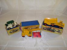 A selection of Matchbox items to include a boxed Y-3 Model of Yesteryear, a boxed K-14 Taylor Timpo Crane (box has end flap detached) and a boxed K-2 Dump Truck. G-VG in P-G boxes (3)