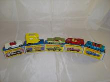 A group of boxed Matchbox Superfast models to include numbers: 27,43,62, 68 and 69. G-VG in G boxes (5)