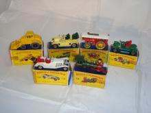 A group of boxed Matchbox Models of Yesteryear in original style boxes and a Matchbox King Size F-G in F-G boxes (6)