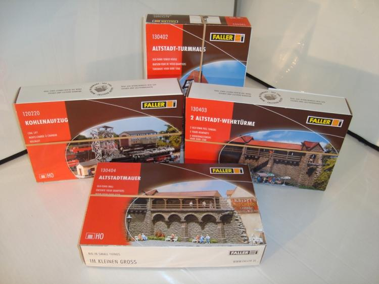 Ho Gauge A Group Of Four Faller Building Kits Comprising 12