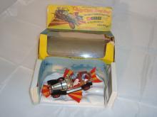 A boxed Corgi 266 diecast Chitty Chitty Bang Bang. VG in F box