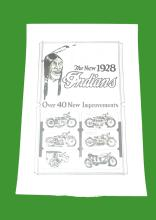 1928 - 'The New 1928 Indians' Advertising Poster (black and white). Condition: Rolled Fair - MOTOR BIKE / AUTOMOBILIA INTEREST