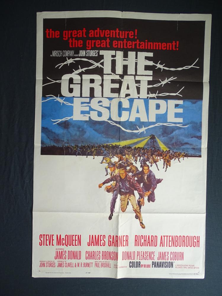 The great escape 1963 us one sheet movie poster first for The great escape house