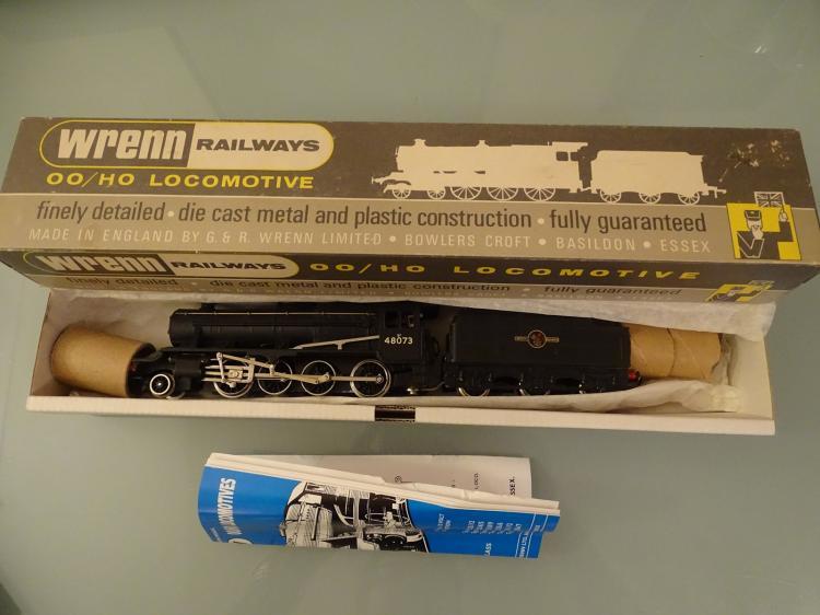 model railways oo gauge a wrenn w2224 class 8f steam loc. Black Bedroom Furniture Sets. Home Design Ideas