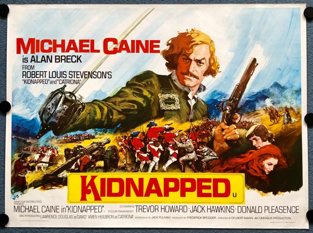 KIDNAPPED (1971) - UK QUAD FILM POSTER - MICHAEL CAINE - ARNALDO ...