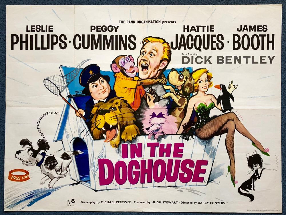 IN THE DOGHOUSE (1962) - BRITISH UK QUAD FILM POSTER - FIRST ...