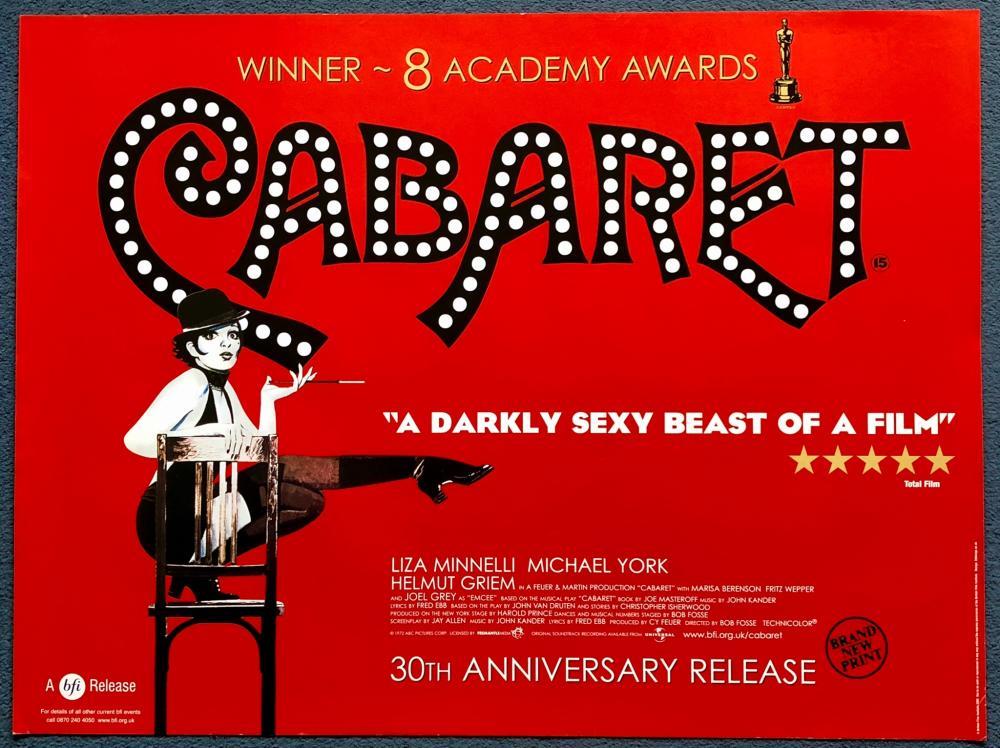CABARET (2002 - BFI RELEASE) - UK QUAD FILM POSTER - LIZA MINNELLI ...