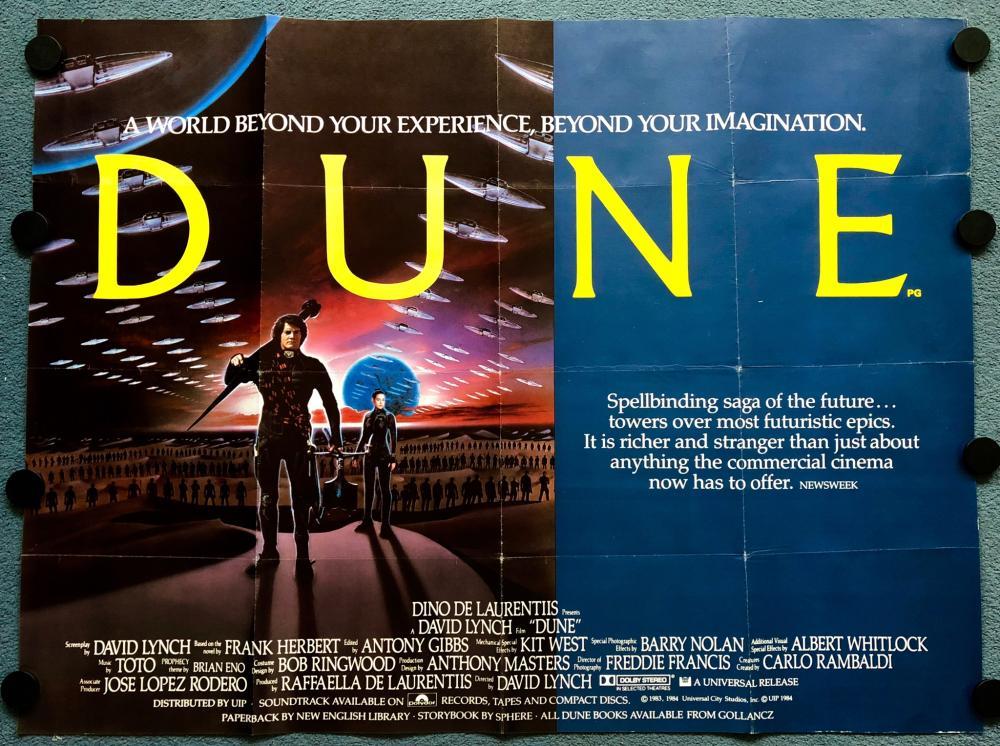 Lot Dune 1984 British Uk Quad Film Poster David Lynch 30 X 40 76 X 101 5 Cm Fine Plus Folded As Issued