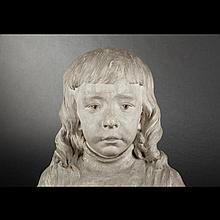 Jules Edmond Masson. Bust of a young boy, plaster
