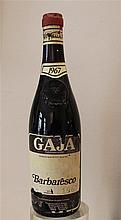 GAJA - 1 bouteille Gaja Barbaresco 1967, étiquette légère