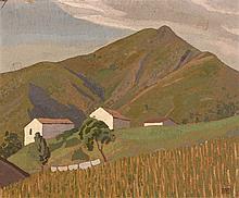 Ramiro ARRUE (1892-1971)  - Paysage- Huile sur carton signée en bas à droite -