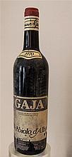 GAJA - 1 bouteille Gaja Nebbiolo d'Alba 1970, étiquette s