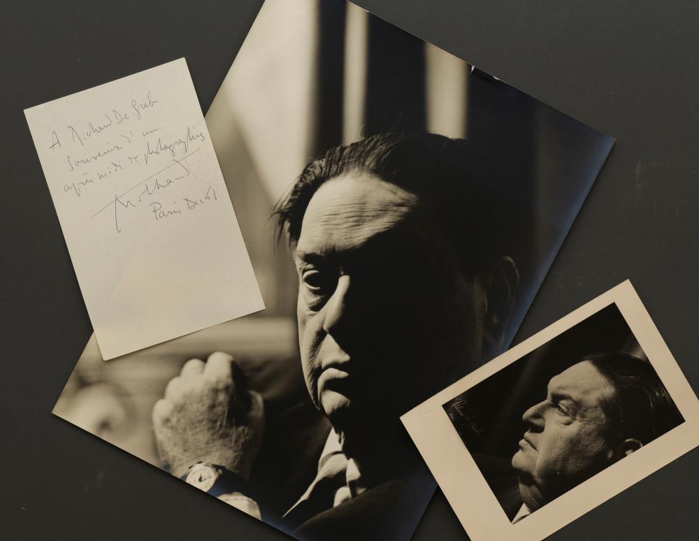 Darius MILHAUD, compositeur - Ensemble de deux tirages argentiques d'époque par Richard de Grab - 4