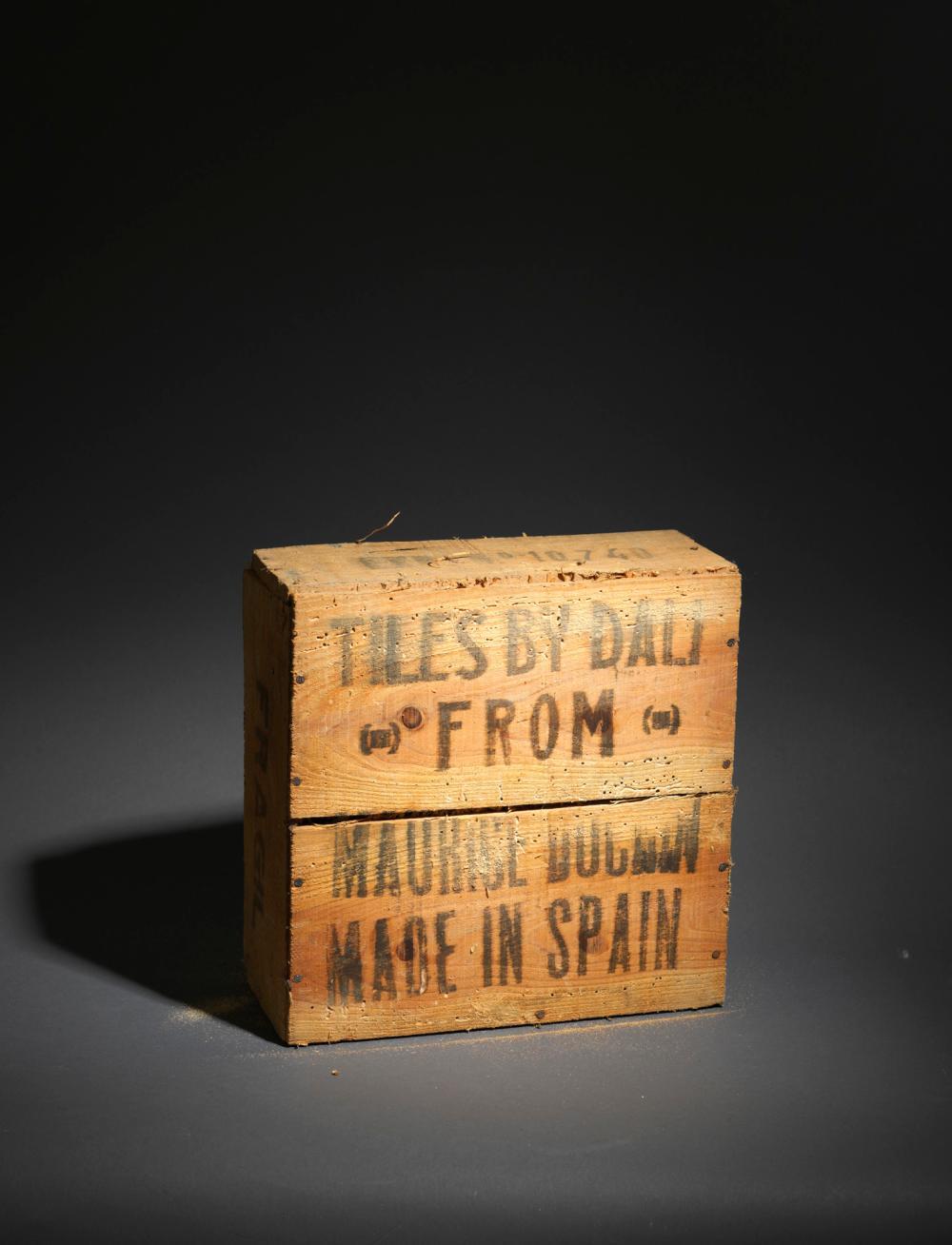 Salvador DALI (1904-1989), d'après - Ensemble de 6 carreaux de céramique, 1954 signés : Le baiser d