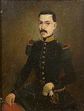 Ecole française XIXème siècle - Portrait d'officier - Huile sur toile non s