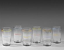 Louise LAWLER (Née en 1947) 6 verres, 1987 signés collection