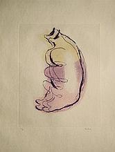 Jean FAUTRIER (1898- 1964) - Petits torses de femmes - Eau forte et aquatinte en couleurs sur Japon Impérial - Signé au crayon dans la marge en bas à droite et justifié. 58 x 40 cm - Petite pliure en bas à gauche - Bibliogprahie : MASON 230, II