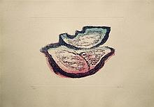 Jean FAUTRIER (1898- 1964) - Le prophète - Eau forte et aquatinte en couleurs sur Japon ancien - Signé au crayon dans la marge  en bas à droite et justufué en bas à gauche - 37 x 52 cm Bibliographie : MASON 245 2ème état - ENGELBERTS 1944/11