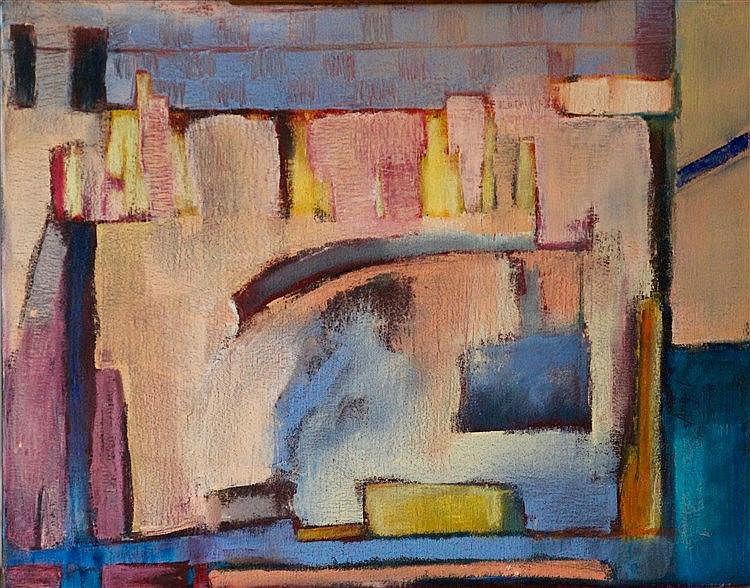 Angelika GERELUK (XXème) - Composition, 2012 - Huile sur toile signée et da