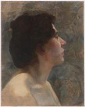 Franz Dvorak (1862 – 1927), Portrait of a Woman in Profile