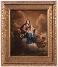 Giovanni Odazzi (1636–1731) Vision of Saint Francis of Paola (Franciscus de Paula)