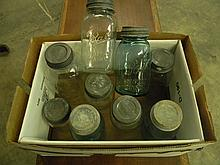 9 Antique Mason Jars