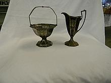 Meridan Britannica Company Antique Creamer and Sug