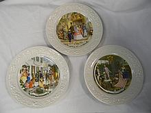 3 American Commemoratives Plates