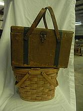 2 Vintage Picnic Baskets