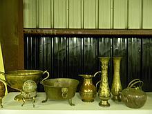 8 Piece Copper and Brass Decor