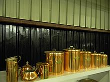 Copper Color Kitchen Canisters and Accessories