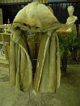 Vintage Fur Coat with Hood