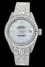 Rolex Ladies Stainless Steel, Diamond Dial & Diamond Bezel, Sapphire Crystal - REF-426F4M