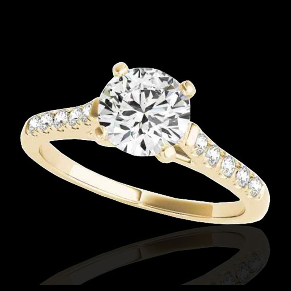 1.45 ctw H-SI/I Diamond Solitaire Ring 10K Yellow Gold - REF-245M5F - SKU:34981