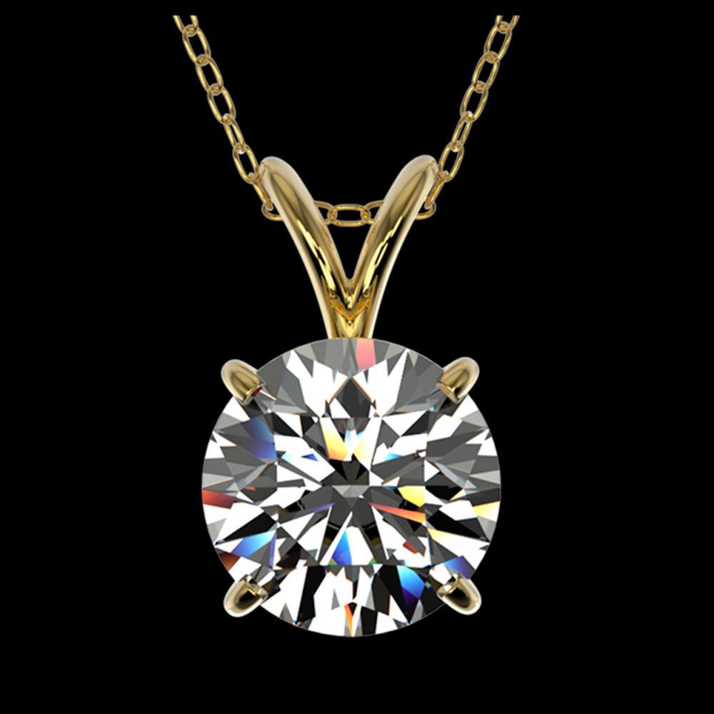 1.50 ctw H-SI/I Diamond Necklace 10K Yellow Gold - REF-322K5W - SKU:33222