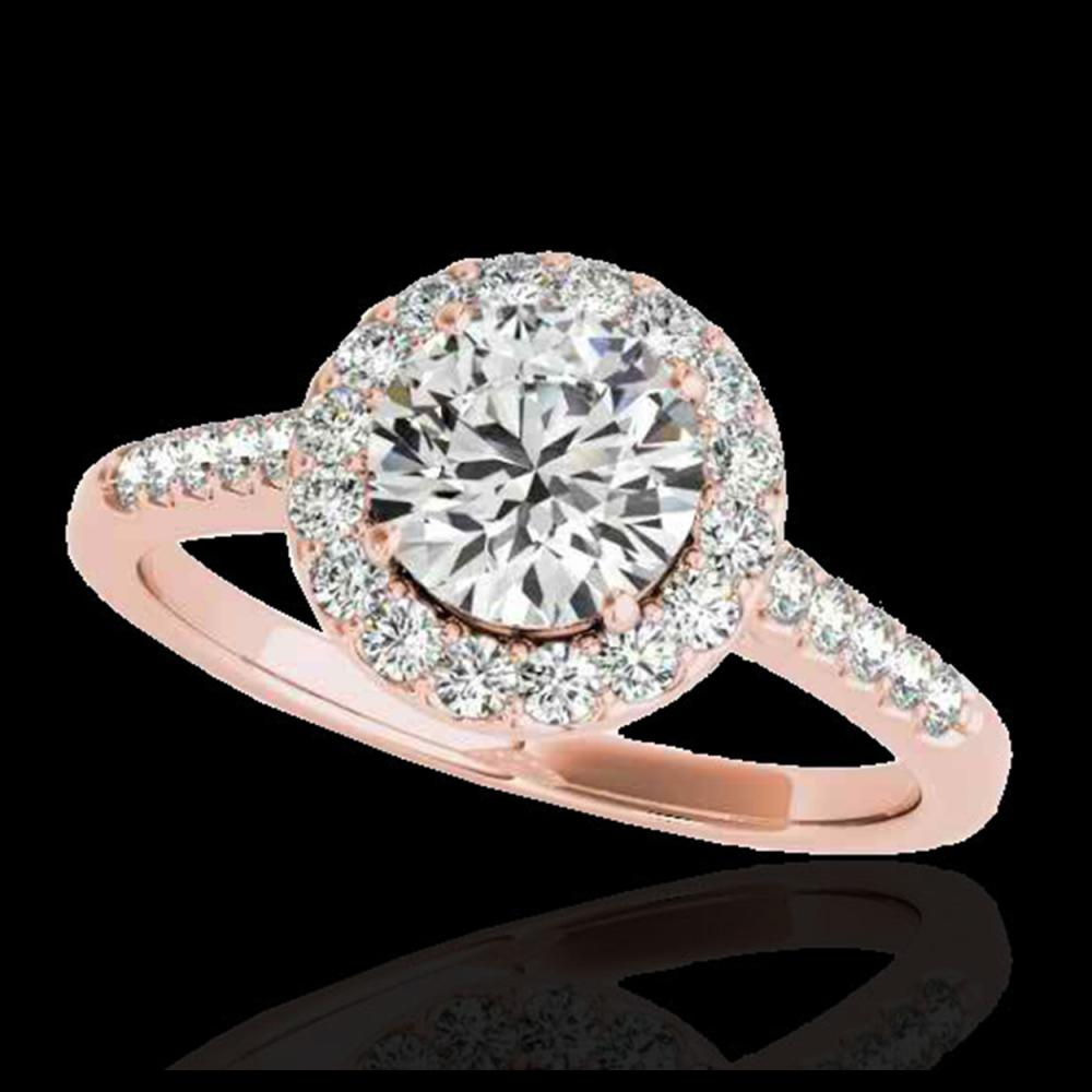 2 ctw H-SI/I Diamond Solitaire Halo Ring 10K Rose Gold - REF-354N5A - SKU:33491