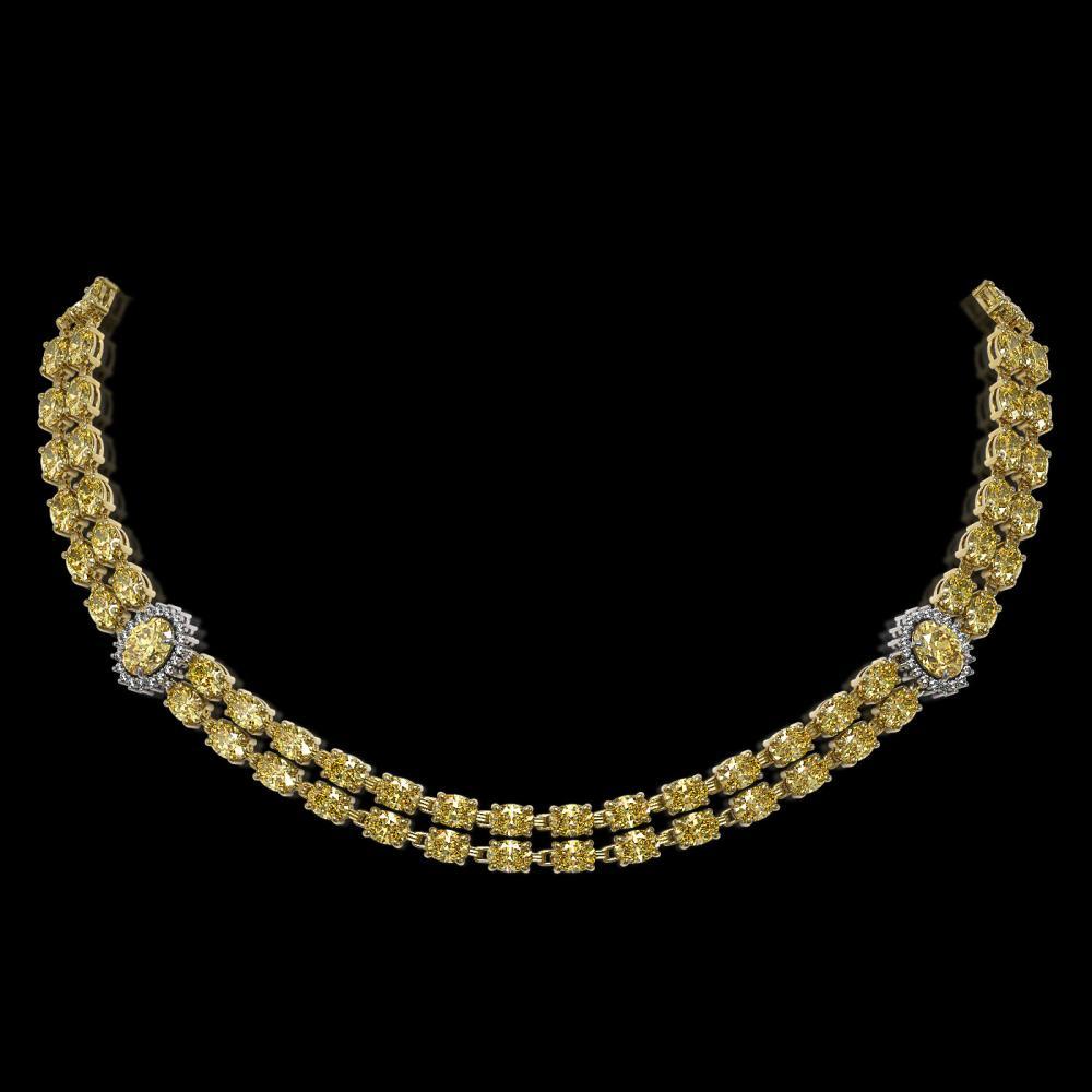 31.4 ctw Citrine & Diamond Necklace 14K Yellow Gold - REF-375M8F - SKU:44212