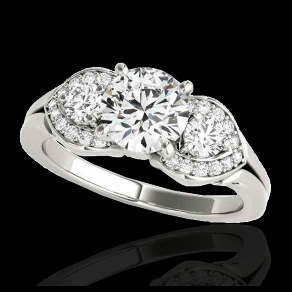 1.45 ctw H-SI/I Diamond 3 Stone Ring 10K White Gold - REF-204F5N - SKU:35331