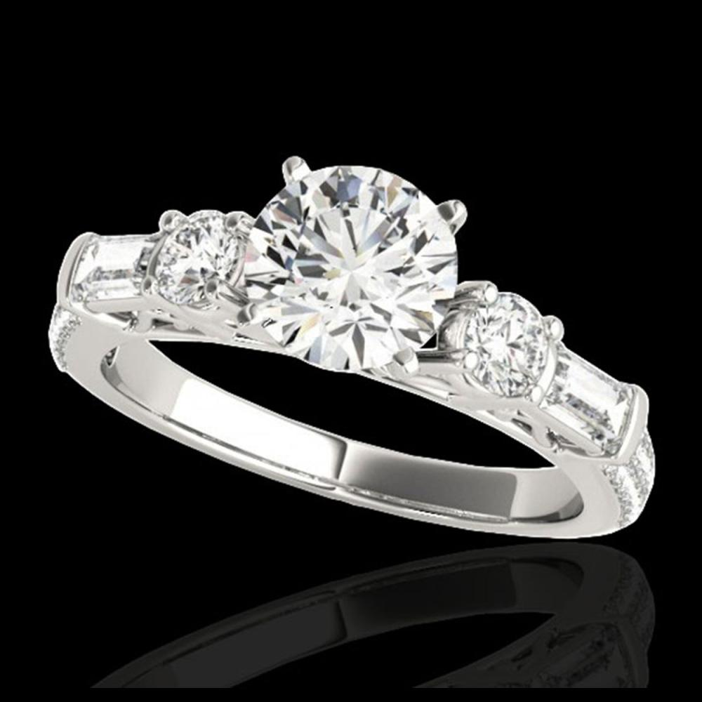 2 ctw H-SI/I Diamond Solitaire Ring 10K White Gold - REF-166N4A - SKU:35471