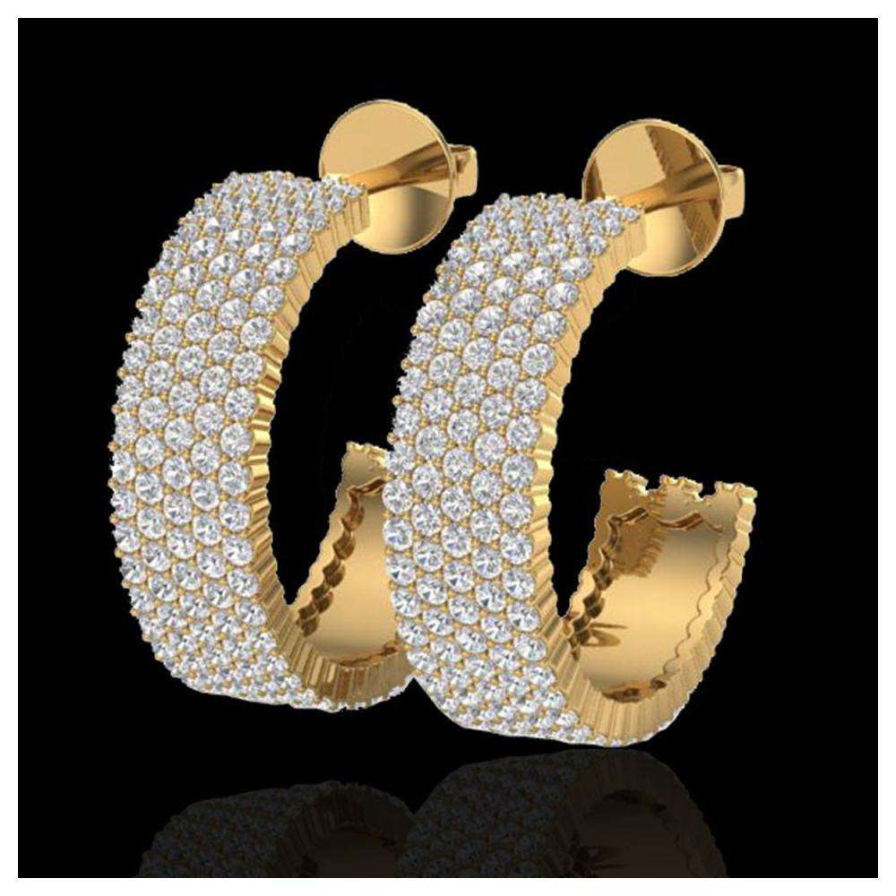 4.50 ctw VS/SI Diamond Earrings 14K Yellow Gold - REF-292K5W - SKU:20175