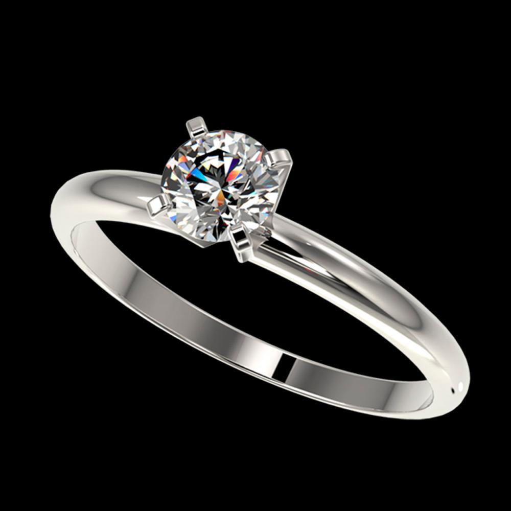 0.50 ctw H-SI/I Diamond Ring 10K White Gold - REF-58Y5X - SKU:32855