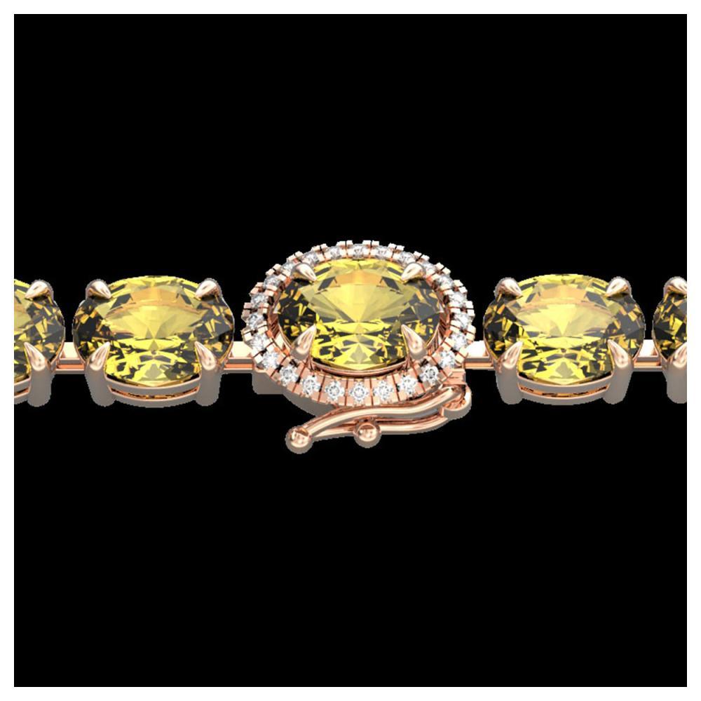 29 ctw Citrine & VS/SI Diamond Bracelet 14K Rose Gold - REF-117Y3X - SKU:23419