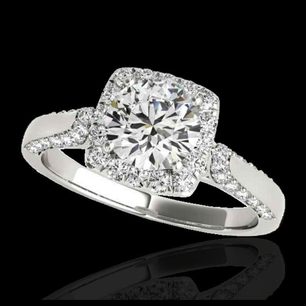 1.70 ctw H-SI/I Diamond Solitaire Halo Ring 10K White Gold - REF-211H4M - SKU:33373