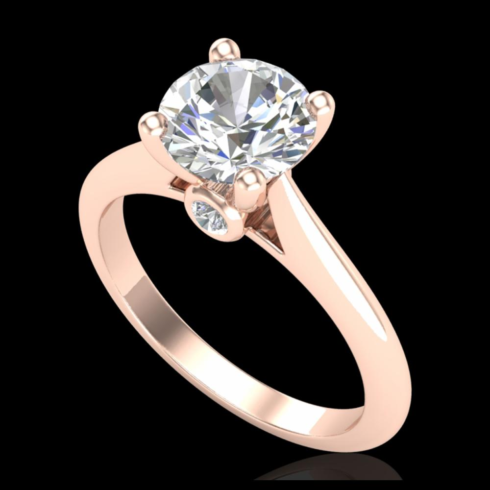 1.60 ctw VS/SI Diamond Art Deco Ring 18K Rose Gold - REF-555H2M - SKU:37293