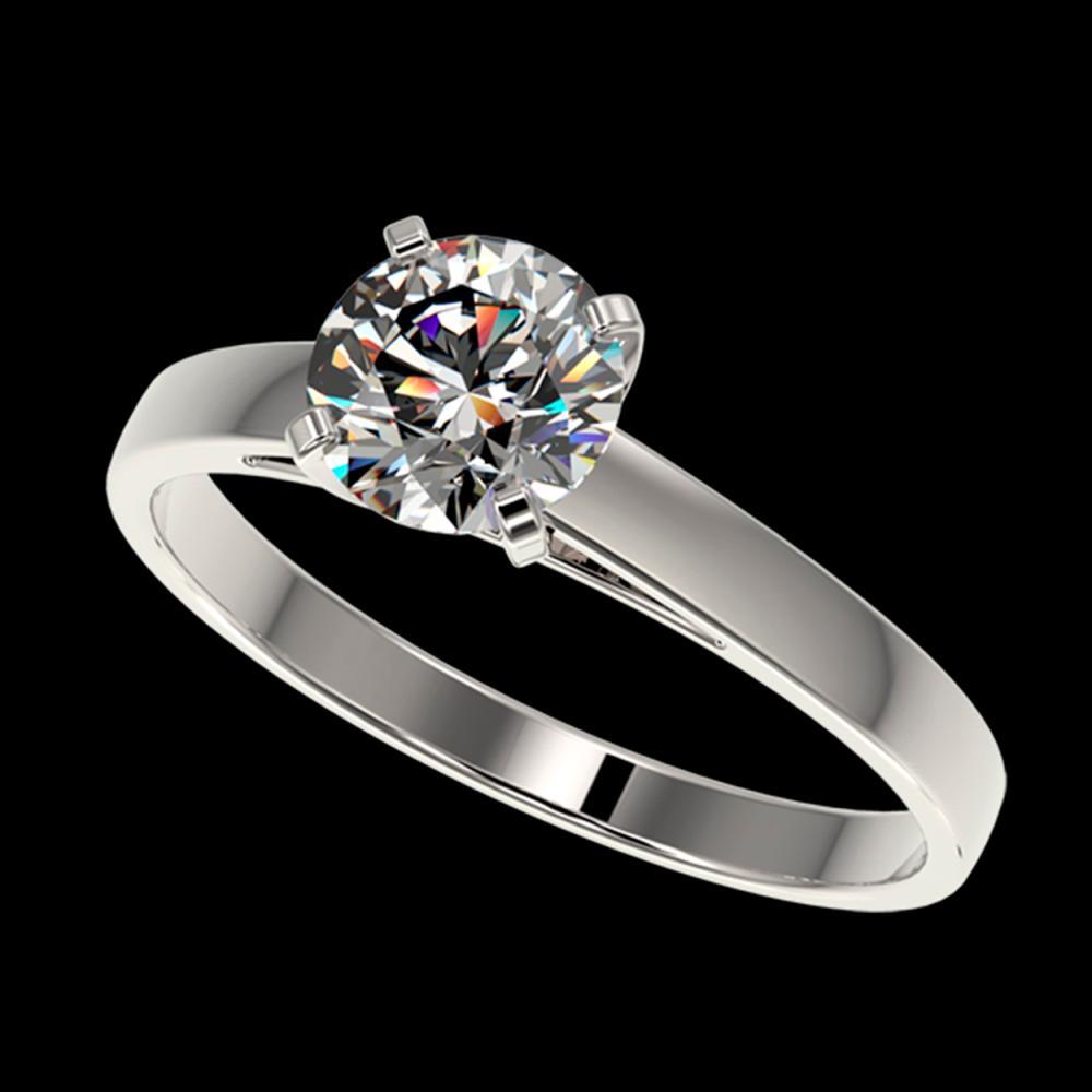 0.97 ctw H-SI/I Diamond Ring 10K White Gold - REF-199R5K - SKU:36495